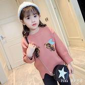 女童毛衣 兒童秋裝針織衫女孩洋氣打底衫中小童寶寶毛線衣 nm8922【Pink中大尺碼】
