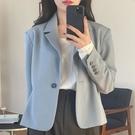 西裝外套 2021新款 女春秋韓版寬松英倫風短款小個子炸街網紅小西服
