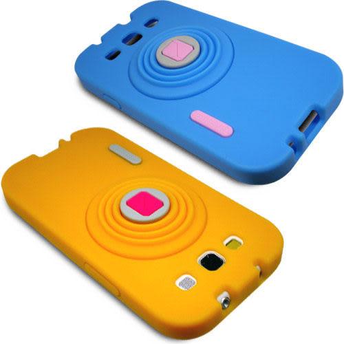 ★皮套達人★  Samsung Galaxy S3 i9300 相機造型支架果凍套+螢幕保護貼 (郵寄免運)