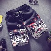 休閒短褲男夏天中褲五分直筒褲潮流寬鬆遠動馬褲男士沙灘褲大褲衩 陽光好物