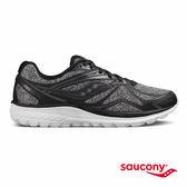 SAUCONY RIDE 9 LR 緩衝避震專業訓練鞋款-黑x麻灰
