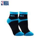 NBA 女款百搭緹花短襪  MIT 運動配件 短襪 平底襪(黑/藍)