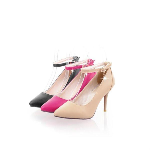 甜美可愛尖頭素面氣質大氣顯瘦超高跟單鞋-黑/米/桃34-43【no-37269470650】