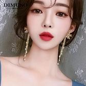 耳環 耳環2021新款潮簡約冷淡風誇張大耳墜韓國氣質網紅花朵純銀耳飾女