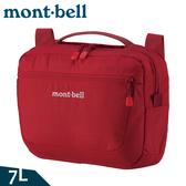 【Mont-Bell 日本 Travel Shoulder M 單肩包 7L《深紅》】1123889/側背包/臀包/休閒隨身包