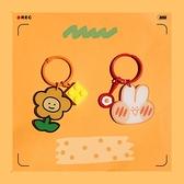 簡約鑰匙扣韓版花朵兔子可愛書包小掛件包包拉鏈掛飾【奇妙商舖】