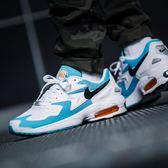 Nike 復古慢跑鞋 Air Max2 Light 藍 白 網布鞋面 氣墊 休閒鞋 男鞋 運動鞋【PUMP306】 AO1741-100