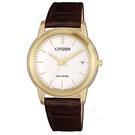 日本CITIZEN星辰Eco-Drive 簡約三針時尚女生皮帶腕錶 FE6012-11A