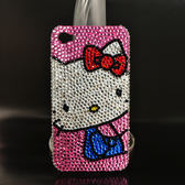 ☆Deluxe ☆ 新潮Hello Kitty   水晶鑲崁iPhone  手機殼★粉水晶 版