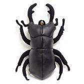 Hamee 昆蟲王者系列 仿真 合成皮革 25cm 大玩偶 (大鍬形蟲) 390-104228