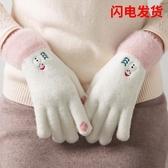 防寒保暖手套女士冬天加絨加厚可觸屏學生可愛棉冬季騎行 - 風尚3C