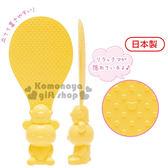 〔小禮堂〕懶懶熊 拉拉熊 日製造型飯匙《黃.小雞.坐姿》可直立於桌面  4974413-64778