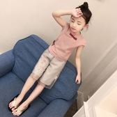 女童漢服短袖民族服裝古裝兒童棉麻唐裝【熊貓本】