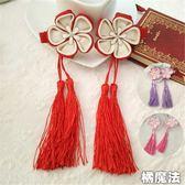 中國風流蘇髮夾 2個一對 橘魔法 Baby magic 現貨 髮飾 髮夾 女童 嬰兒 過年 新年 喜酒 週歲