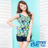 【夏之戀SUMMER LOVE】大女長版印花二件式泳衣-S17723