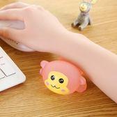 滑鼠護腕滑鼠墊創意卡通可愛動物硅膠辦公滑鼠手枕手托腕墊護手墊護腕    伊芙莎