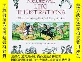 二手書博民逛書店Medieval罕見Life Illustrations (dover Pictorial Archive Ser