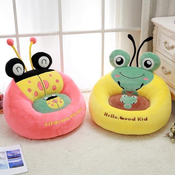可愛卡通青蛙兒童沙發嬰幼兒園坐椅寶寶榻榻米懶人可拆洗單人沙發