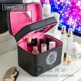 化妝包/大容量雙層多功能手提女收納盒「歐洲站」