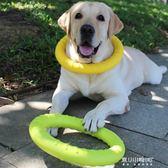 寵物玩具耐咬幼犬磨牙互動圓環咬膠球金毛拉布拉多中大型犬狗用品   東川崎町