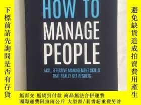 二手書博民逛書店HOW罕見TO MANAGE PEOPLE (fast,effe