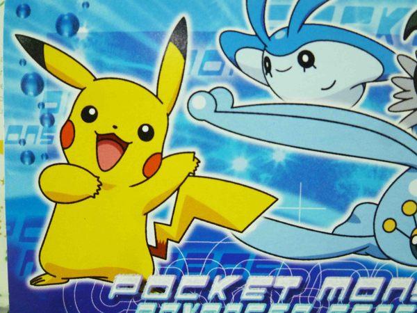 【震撼精品百貨】神奇寶貝_Pokemon~吸油面紙-皮卡丘(藍)