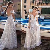 禮服洋裝 連身裙女裝性感吊帶連身裙網紗女長裙 迪澳安娜