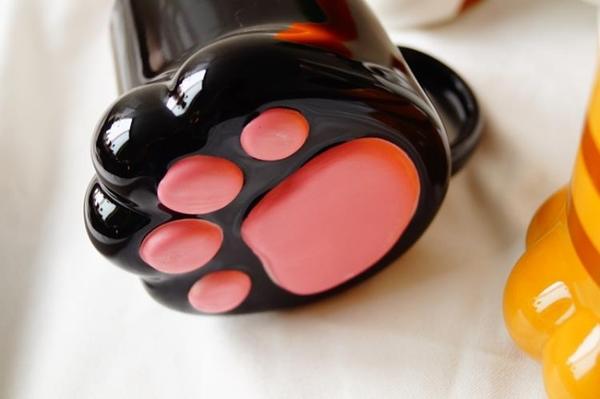 新品貓部雜貨日本在售超萌貓爪肉墊陶瓷馬克杯立體貓咪肉墊馬克杯