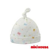 MIKI HOUSE BABY 日本製 可愛動物寶貝嬰兒帽(白)
