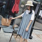 618好康鉅惠孕婦夏裝寬鬆大碼個性短袖中長款孕婦連身裙