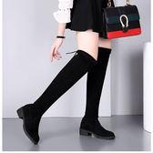 膝上靴 冬季新款加絨長筒靴女士過膝長靴