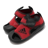 adidas 涼鞋 AltaVenture Mickey I 紅 黑 米奇 魔鬼氈 涼拖鞋 基本款 童鞋 小童鞋【PUMP306】 D96909