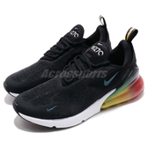 Nike 慢跑鞋 Air Max 270 SE 黑 橘 彩虹 漸層 大氣墊 舒適緩震 運動鞋 男鞋【PUMP306】 AQ9164-003