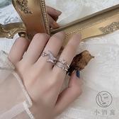 韓版戒指女時尚復古個性開口食指環【小酒窝服饰】