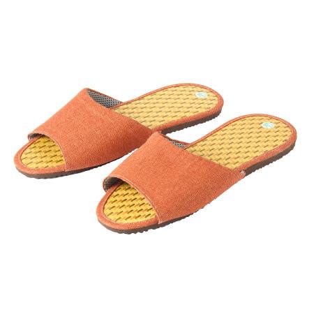 拖鞋 格紋6123 橘M NITORI宜得利家居