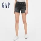 Gap女裝深色水洗休閒牛仔短褲573732-水洗黑