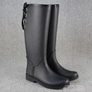 外貿新款時尚雨靴女加絨綁帶雪地靴高筒防水防滑冬季保暖長筒水鞋 依凡卡時尚