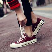 帆布鞋 ins超火鞋子chic復古帆布鞋女春季1992學生正韓風ulzzang板鞋【星時代女王】