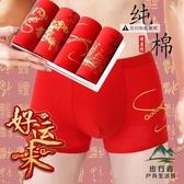 【買2條340元】大紅色男士平角內褲純棉大碼寬鬆四角短褲【步行者戶外生活館】