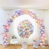 ins網紅氣球兒童生日派對寶寶周歲生日佈置馬卡龍氣球裝飾結婚YYJ 阿卡娜 阿卡娜
