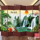 3扇屏風隔斷時尚中式折疊酒店臥室客廳辦公室美容院簡約歐式餐廳折屏定制QM『櫻花小屋』