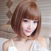 創意假髮女短髮時尚圓臉修臉自然少女年輕時尚新款中長髮全頭套DC1465【Pink中大尺碼】