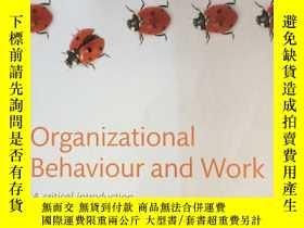 二手書博民逛書店Organizational罕見Behaviour and Wo