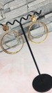 韓版s925純銀超閃誇張大圈圈耳環