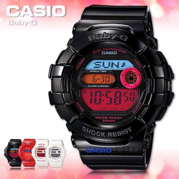 CASIO卡西歐 手錶專賣店 Baby-G BGD-140-1B 女錶 黑 Colorful Light繽紛夜光 防水 碼錶 橡膠錶帶