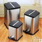 歐式家用垃圾桶不銹鋼 腳踏式紙簍時尚創意...