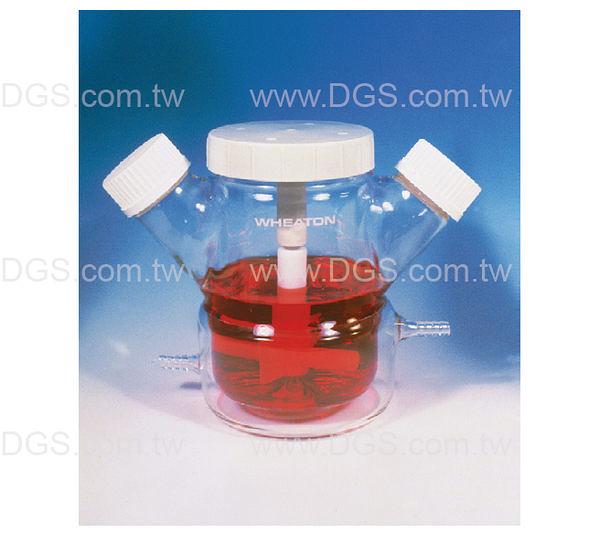 《WHEATON》懸浮式組織培養瓶 Celstir 雙側口 雙層式 Jacketed Double Sidearm Celstir Cell Culture Flask