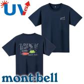【Mont-Bell 日本 男款 Wickron WIC.T 山的道具短袖 排汗T恤《深藍》】1114249/春夏款/排汗衣★滿額送