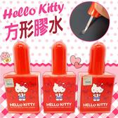 Hello Kitty 凱蒂貓 方形膠水 三麗鷗 授權正版品 膠水 沾黏【狐狸跑跑】