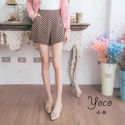 東京著衣【YOCO】華麗幾何排釦短褲-S.M.L(170113)